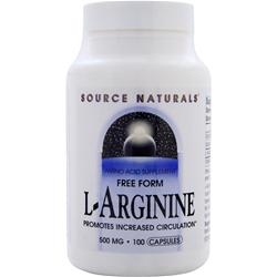 Source Naturals L-Arginine Free Form (500mg) 100 caps