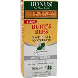 Burt's Bees Natural Toothpaste Whitening w/Fluoride 4 oz