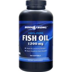 BODYSTRONG 100% Pure Fish Oil (1200mg) 360 sgels