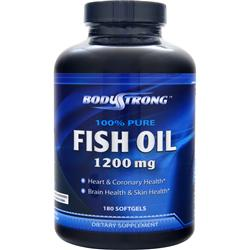 BodyStrong 100% Pure Fish Oil (1200mg) 180 sgels