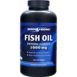 BODYSTRONG 100% Pure Fish Oil (1000mg) - Enteric Coated 360 sgels