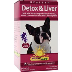 Renew Life Healthy Detox & Liver for Pets 60 tabs