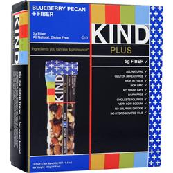 PEACEWORKS Kind Plus Fiber Bar Blueberry Pecan 12 bars