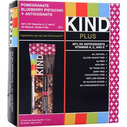 PEACEWORKS KIND Plus Antioxidants Bar Pom Blueberry Pistachio 12 bars
