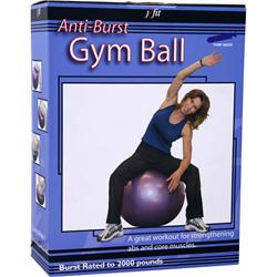 J-Fit Anti-Burst Gym Ball with Pump 45cm - Red 1 ball