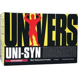 Universal Nutrition Uni-Syn Meal Replacement Powder Strawberry 20 pckts