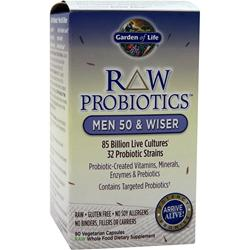 GARDEN OF LIFE Raw Probiotics - Men 50 & Wiser 90 vcaps