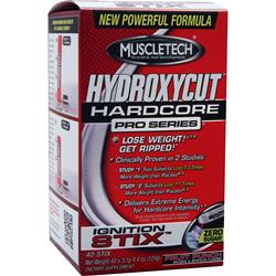 Muscletech Hydroxycut Hardcore Pro Series Ignition Stix Fruit Punch 40 pckts