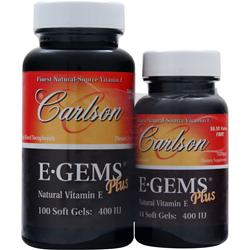 CARLSON E-Gems Plus (400IU) 100+44 Shrink Wrap 144 sgels