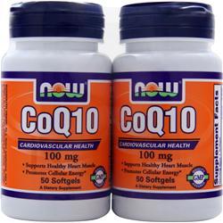 Now CoQ10 (100mg) w/ Rice Bran Oil & E Twinpack 50+50 100 sgels