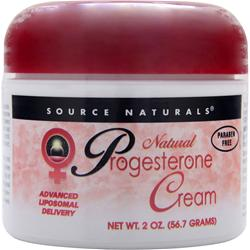 SOURCE NATURALS Progesterone Cream - Natural 2 oz