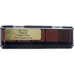 JAN TANA Make-up Tattoo Cover Hi-Def Glamour Creme Cool Palette #2 .39 oz
