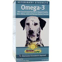 Renew Life Veterinary Strength Omega-3 for Pets 60 caps