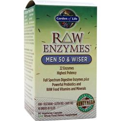 GARDEN OF LIFE Raw Enzymes - Men 50 & Wiser 90 vcaps