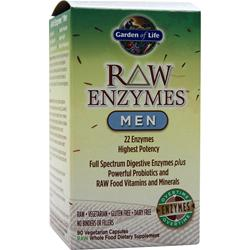 GARDEN OF LIFE Raw Enzymes - Men 90 vcaps