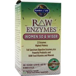 GARDEN OF LIFE Raw Enzymes - Women 50 & Wiser 90 vcaps