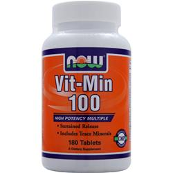 NOW Vit-Min 100 180 tabs
