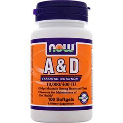 Now A & D (10,000IU/400IU) 100 sgels