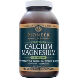 PIONEER Calcium Magnesium - Vegetarian 180 caps