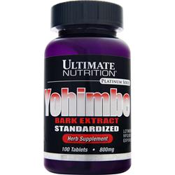 Ultimate Nutrition Yohimbe Bark Extract - Standardized 100 tabs