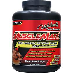 MUSCLE MAXX High-Energy Protein Shake Chocolate Fudge 5 lbs