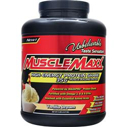 MUSCLE MAXX High-Energy Protein Shake Vanilla Dream 5 lbs