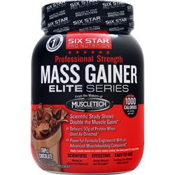 Six Star Pro Nutrition Professional Strength Mass Gainer Elite Series Triple Chocolate 2.5 lbs