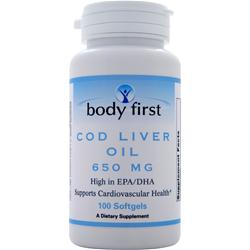 BODY FIRST Cod Liver Oil (650mg) 100 sgels