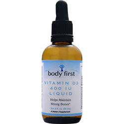 BODY FIRST Vitamin D3 Liquid (400IU) 2 fl.oz