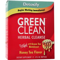 DETOXIFY Green Clean - Herbal Cleanse Honey Tea 2 bttls