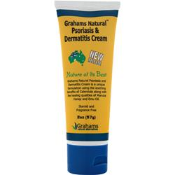 GRAHAMS NATURAL Psoriasis & Dermatitis Cream 2 fl.oz