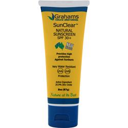 GRAHAMS NATURAL SunClear - Natural Sunscreen SPF 30+ 2 oz