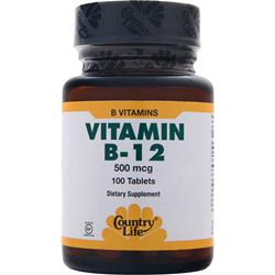 COUNTRY LIFE Vitamin B-12 (500mcg) 100 tabs