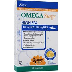 COUNTRY LIFE Omega Surge High EPA Lemon 60 gummy