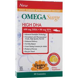 COUNTRY LIFE Omega Surge High DHA Lemon 60 gummy