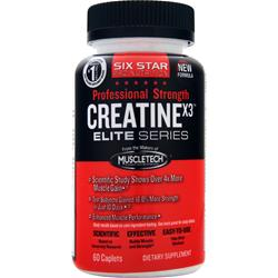 SIX STAR PRO NUTRITION Professional Strength Creatine X3 Elite Series 60 cplts