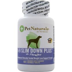PET NATURALS OF VERMONT K-9 Slim Down Plus 60 tabs