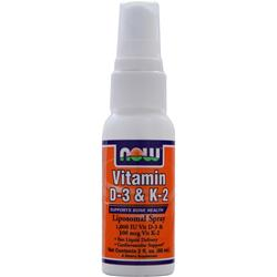 NOW Vitamin D-3 & K-2 Liposomal Spray 2 fl.oz