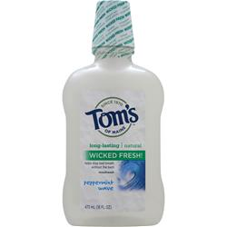 TOM'S OF MAINE Natural Long-Lasting Mouthwash Peppermint Wave 16 fl.oz