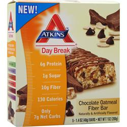 ATKINS Day Break Bar Chocolate Oatmeal Fiber 5 bars