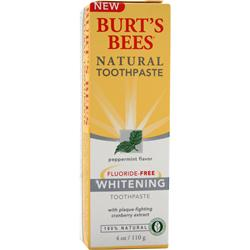 Burt's Bees Natural Toothpaste Whitening Fluoride-Free 4 oz