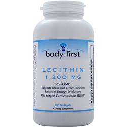 Body First Lecithin (1200mg) - Non-GMO 200 sgels