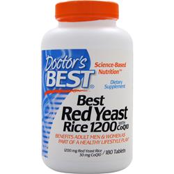 DOCTOR'S BEST Best Red Yeast Rice w/ CoQ10 180 tabs
