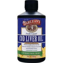 BARLEAN'S Fresh Catch Cod Liver Oil Liquid Lemonade 16 fl.oz