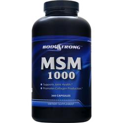 BodyStrong MSM (1000mg) 360 caps