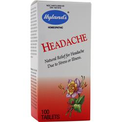 HYLANDS HOMEOPATHIC Headache 100 tabs
