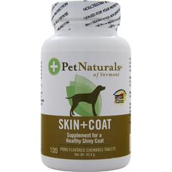 PET NATURALS OF VERMONT Skin+Coat For Dogs - Pork Flavored 120 tabs
