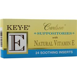 CARLSON Key-E Suppositories with Natural Vitamin E 24 pck
