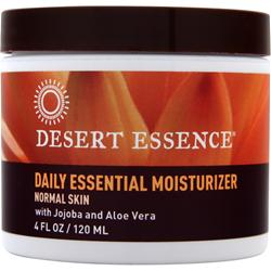 DESERT ESSENCE Daily Essential Moisturizer - Normal Skin Jojoba and Aloe Vera 4 oz