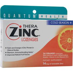 Quantum Thera Zinc Lozenges Orange 24 lzngs